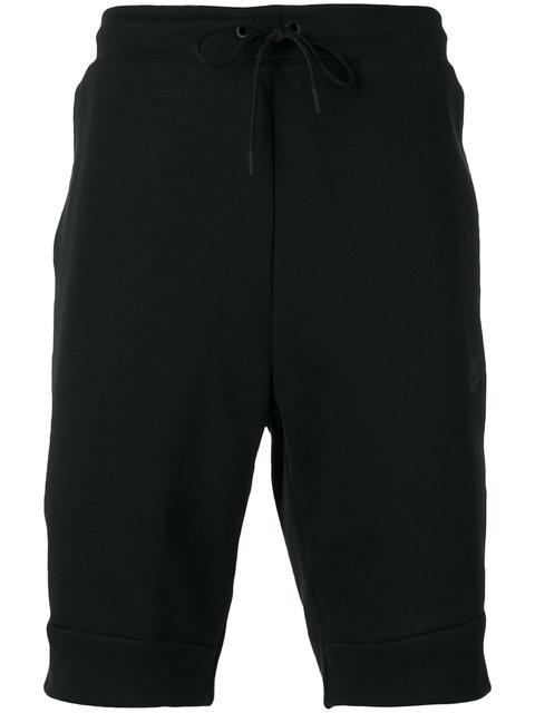 Nike Tech Fleece Shorts In 010Blk/Blk