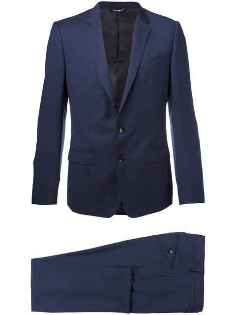 Dolce & Gabbana Patterned Suit - Blue