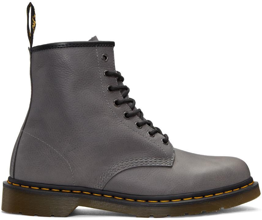 Dr. Martens Grey 1460 Lace-Up Boots In Titanium Carpathian