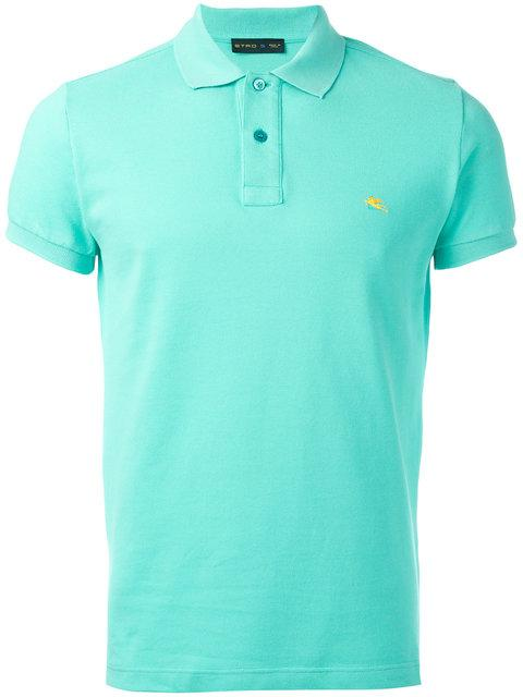 Etro Logo Embroidered Polo Shirt