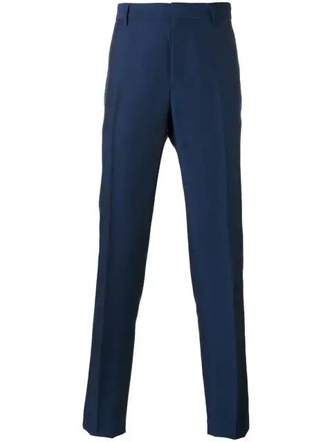 Salvatore Ferragamo Tailored Trousers In Blue