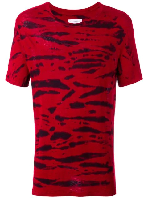 Faith Connexion Striped T-Shirt In Maroon