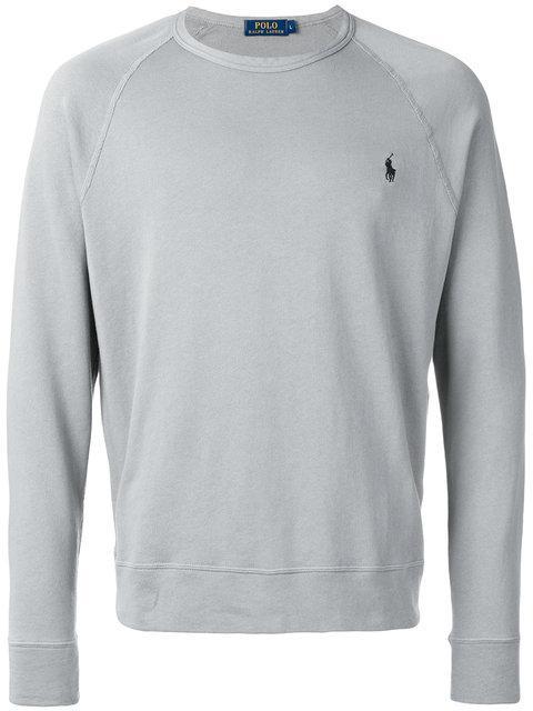 Polo Ralph Lauren Logo Raglan Jumper - Grey