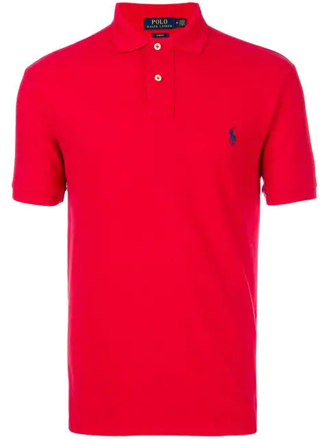 Lauren Ralph Mens Red Shirt Polo TF1cuKJl3