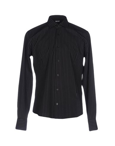 Just Cavalli Striped Shirt In Black