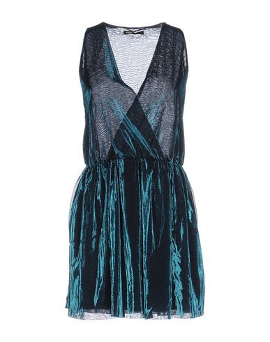 Maje Short Dress In Deep Jade