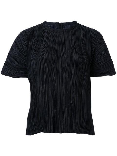 Haider Ackermann Black PlissÉ Blouse
