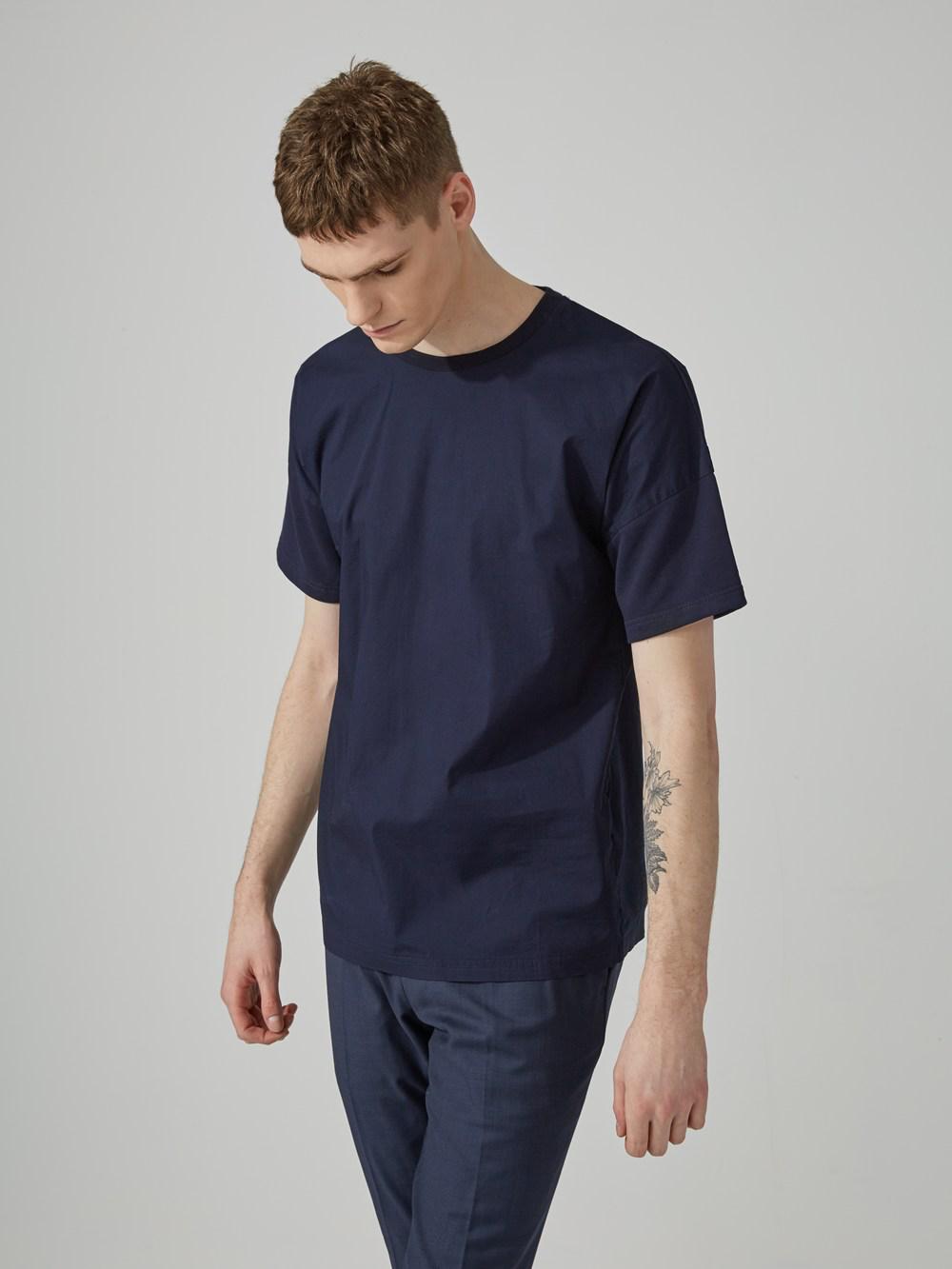 Frank + Oak Oversized Kimono Sleeve T-Shirt In Navy