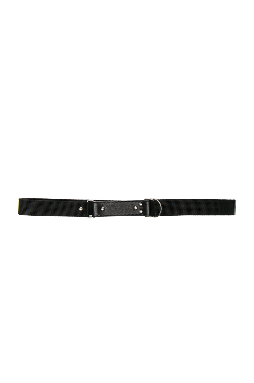 Saint Laurent Oval Monogramme Belt In Black & Black
