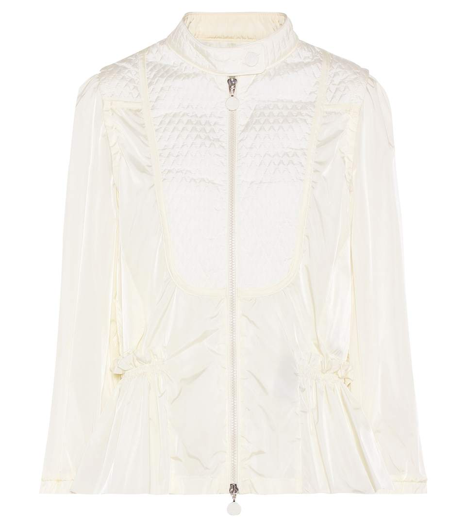 Moncler Orange Quilted Jacket In White