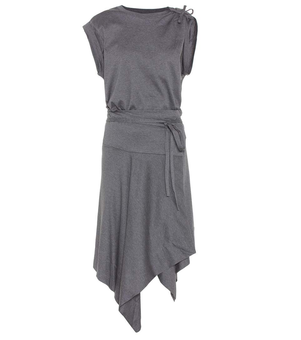 Isabel Marant Loko Wrap Dress In Cotton In Aethracite