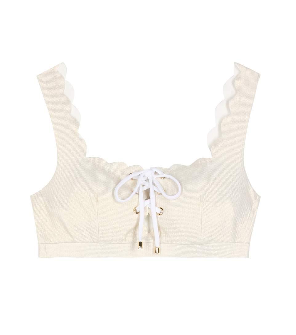 Marysia Palm Springs Bikini Top In Beige