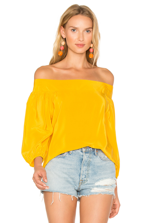 Amanda Uprichard Ronan Top In Yellow