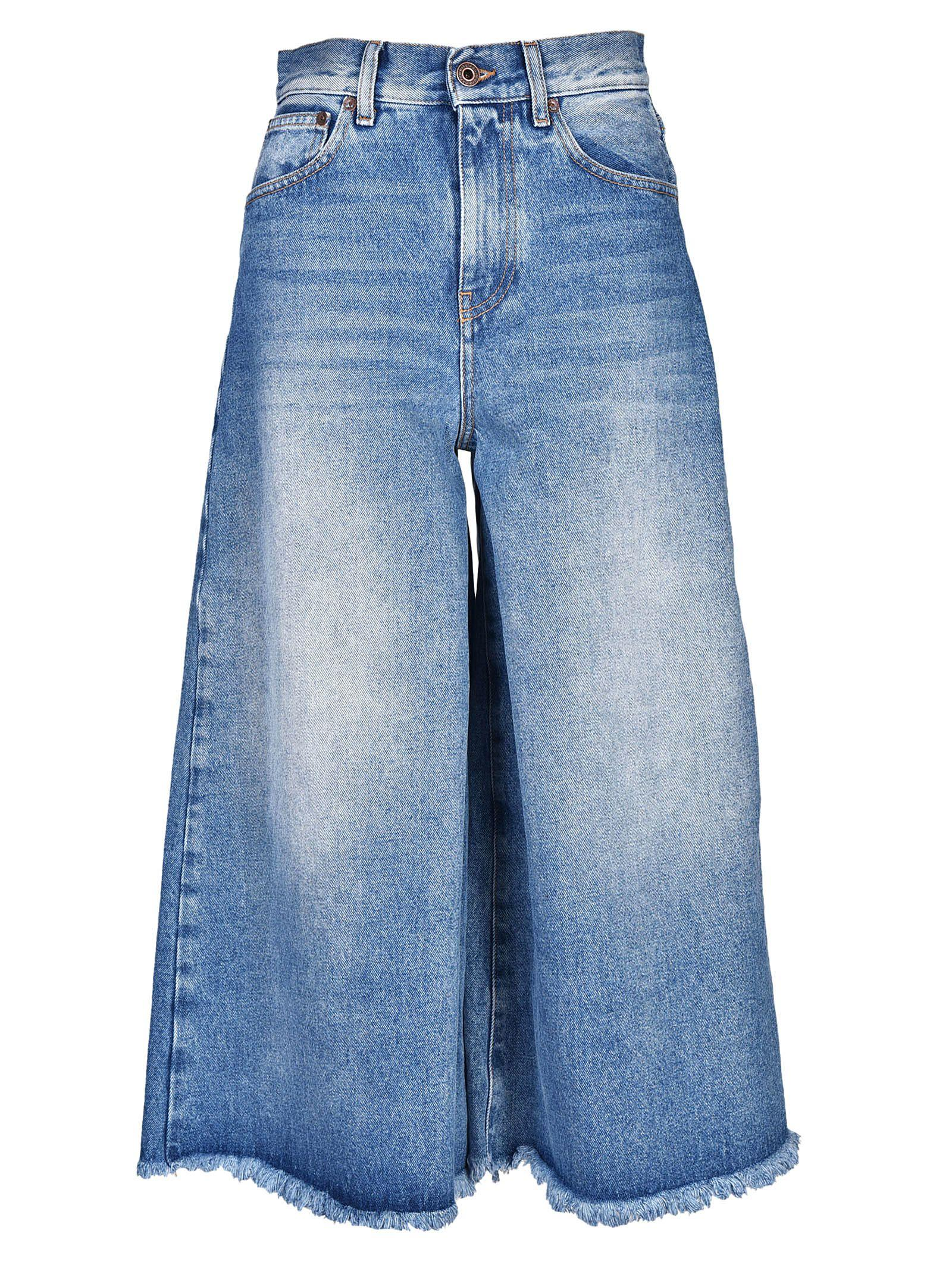 Off-White Flared Cropped Jeans