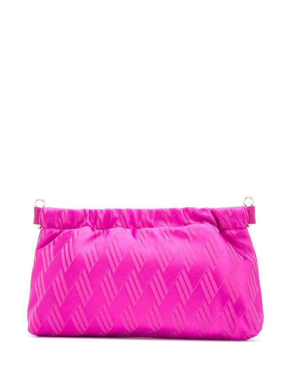 Attico Metal Clasp Clutch Bag In Pink