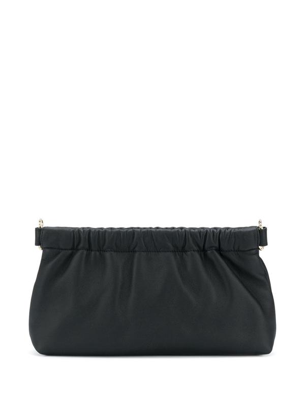 Attico Clutch In Black Leather