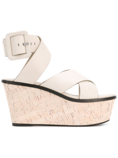 Barbara Bui Crossover Wedge Sandals