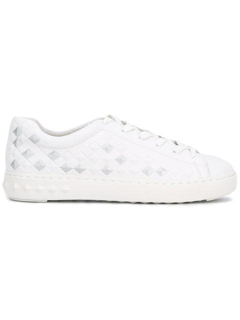 Ash Panic Spike Platform Sneaker, White/Silver