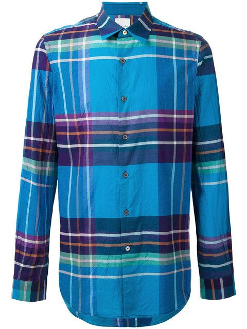 Paul Smith Plaid Cotton Button-Front Shirt