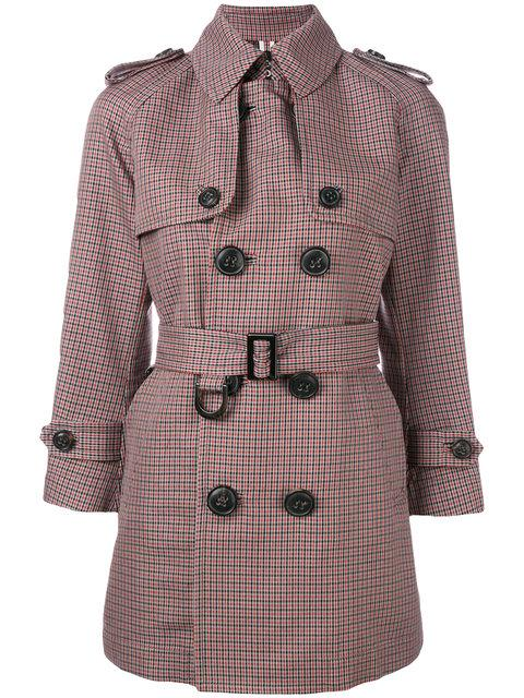 Dsquared2 Lightweight Check Coat - Multicolour
