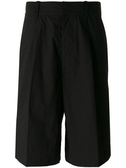 Lemaire Long Bermuda Shorts In Green