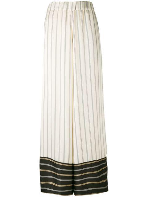 Antonio Marras Contrast Striped Trousers - Neutrals