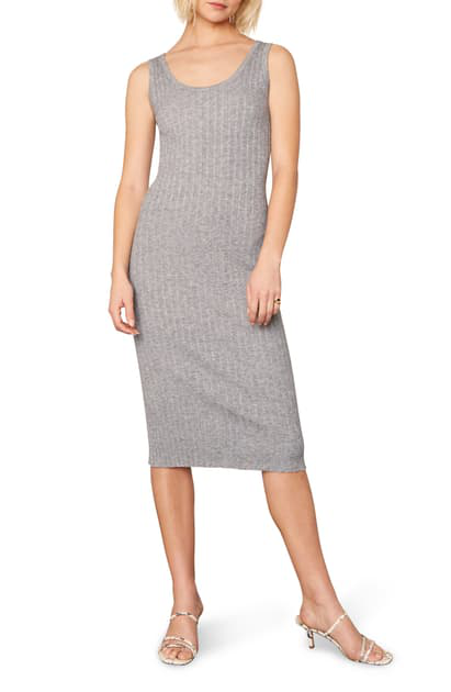Cupcakes And Cashmere Macy Rib Body-con Dress In Heather Grey