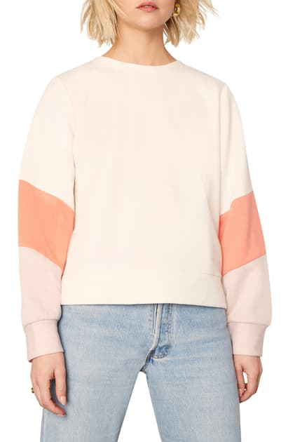 Cupcakes And Cashmere Alisha Colorblock Sweatshirt In Soft Beige
