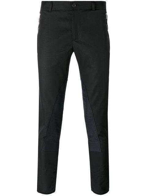 Alexander Mcqueen Black Zip & Button Trousers