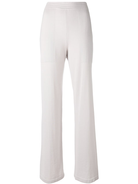Calvin Klein Collection Knitted Flared Trousers In 685