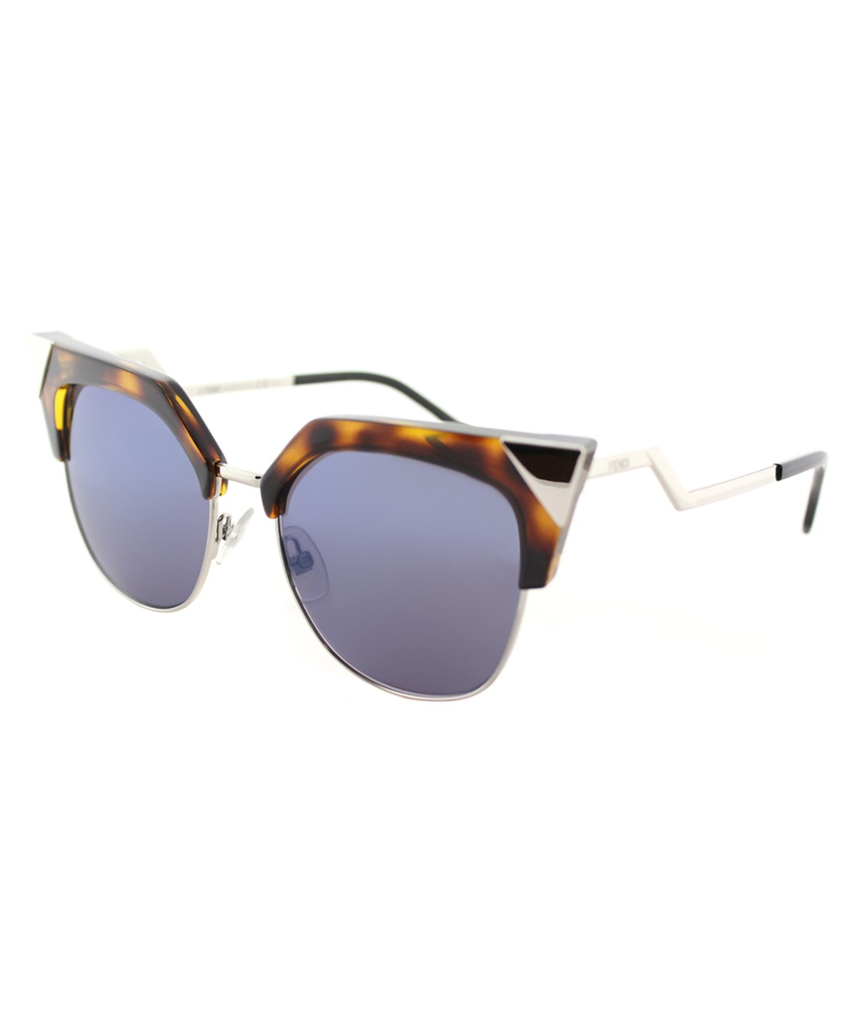 Fendi Women Cat-Eye Metal Sunglasses In Havana Palladium