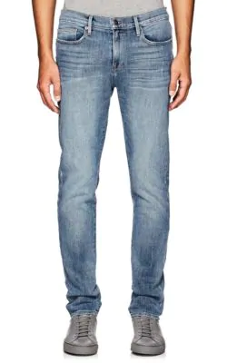 Frame L'Homme Skinny Fit Jeans In Beaudry In Md. Blue