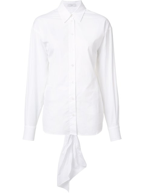 Tome Open-Back Organic Cotton Shirt In White