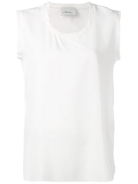 Sleeveless Shirt In White