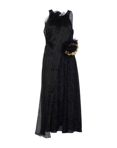 Dries Van Noten Long Dresses In Dark Blue