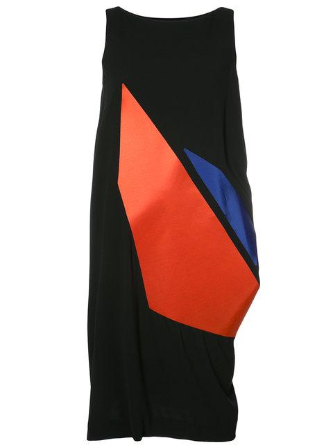 Issey Miyake Sleeveless Graphic Print Dress