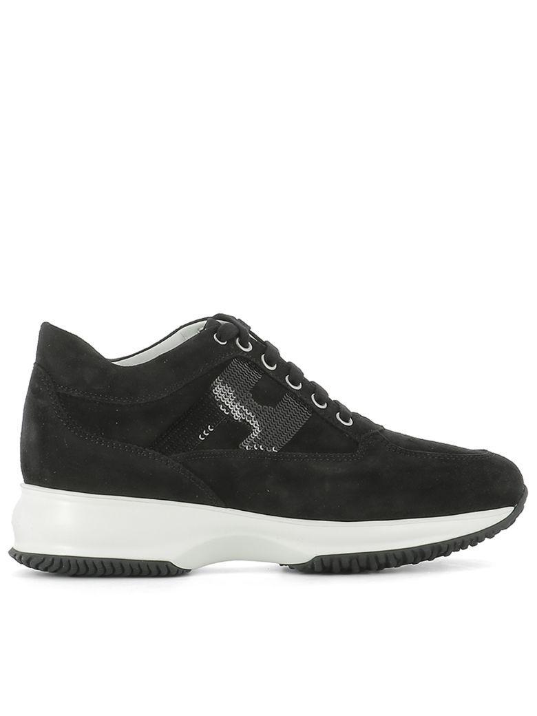 Hogan Black Suede Sneakers
