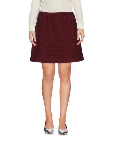Maje Mini Skirt In Maroon