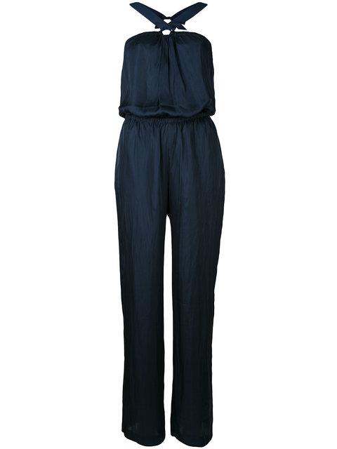 Diesel Sleeveless Jumpsuit With Eyelet Detail - Black