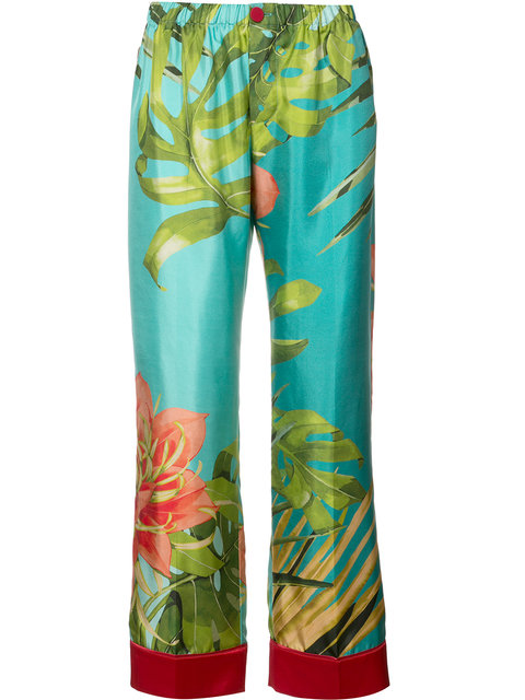 F.R.S For Restless Sleepers Tropical Print Pyjama Trousers - Blue