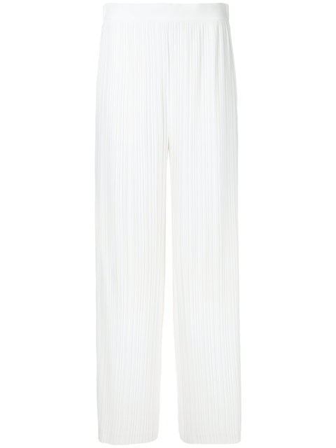 Helmut Lang Pleated Palazzo Trousers