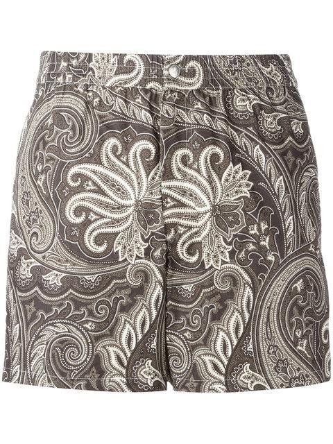 Brioni Printed Swimming Shorts - Brown
