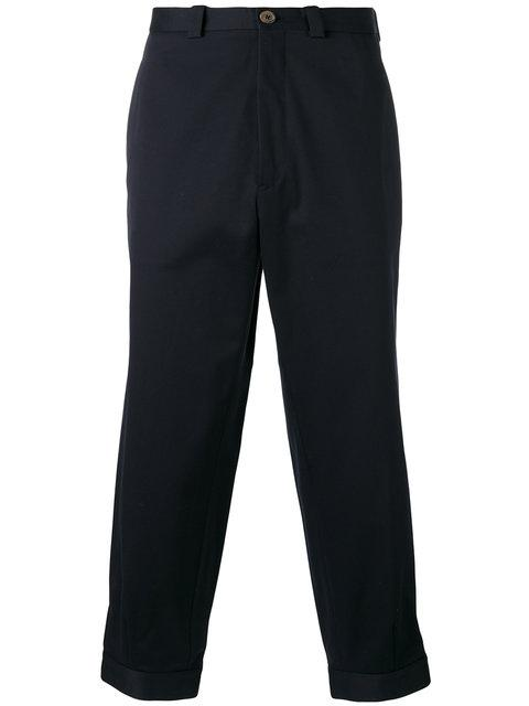 Ports 1961 Cropped Trousers In Blue