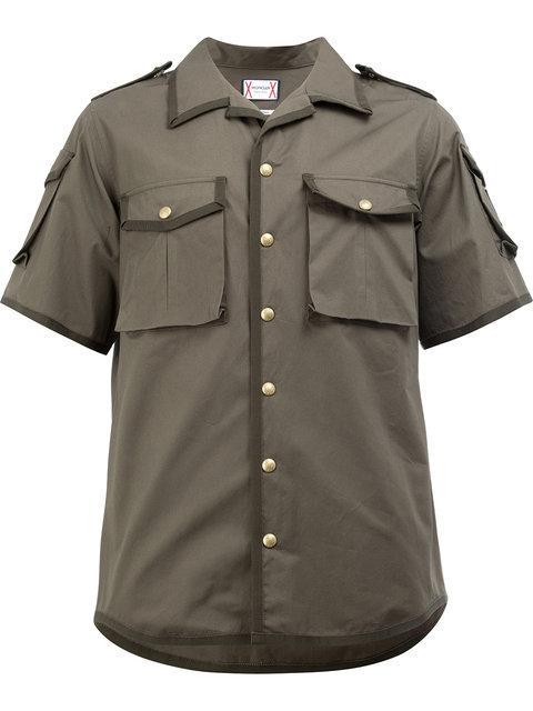 Moncler Gamme Bleu Grosgrain Trim Flap Pocket Shirt