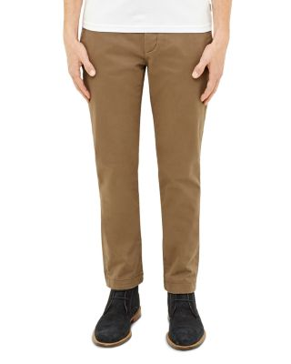 Ted Baker Slim Fit Chinos In Brown