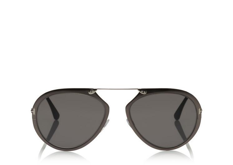 Tom Ford Dashel Aviator Sunglasses, Gunmetal In Shinygunmetal