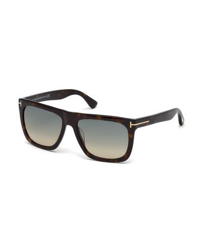 8ad899b23a Tom Ford s Morgan sunglasses are constructed of black acetate. Signature