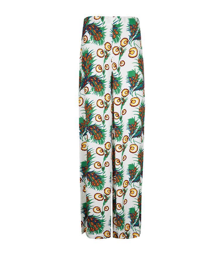Maje Parifa Printed Trousers In Imprime