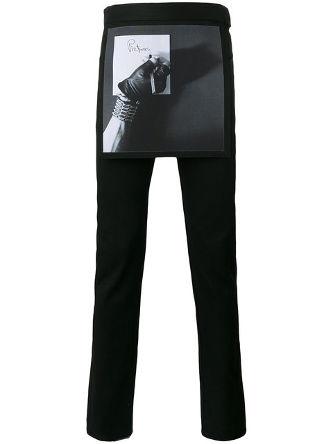 Raf Simons X Robert Mapplethorpe Printed Apron Slim-Fit Jeans - Black