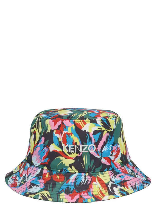 Kenzo Floral Print Bucket Hat In Green